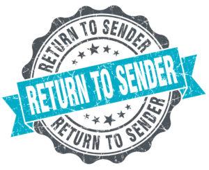 """étampe """"return to sender"""""""